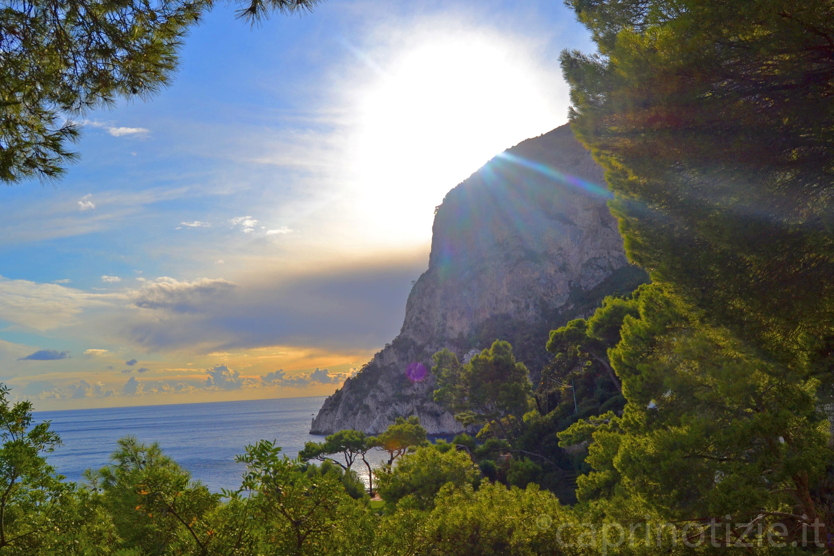 Capri, venti freddi e temperature in caduta