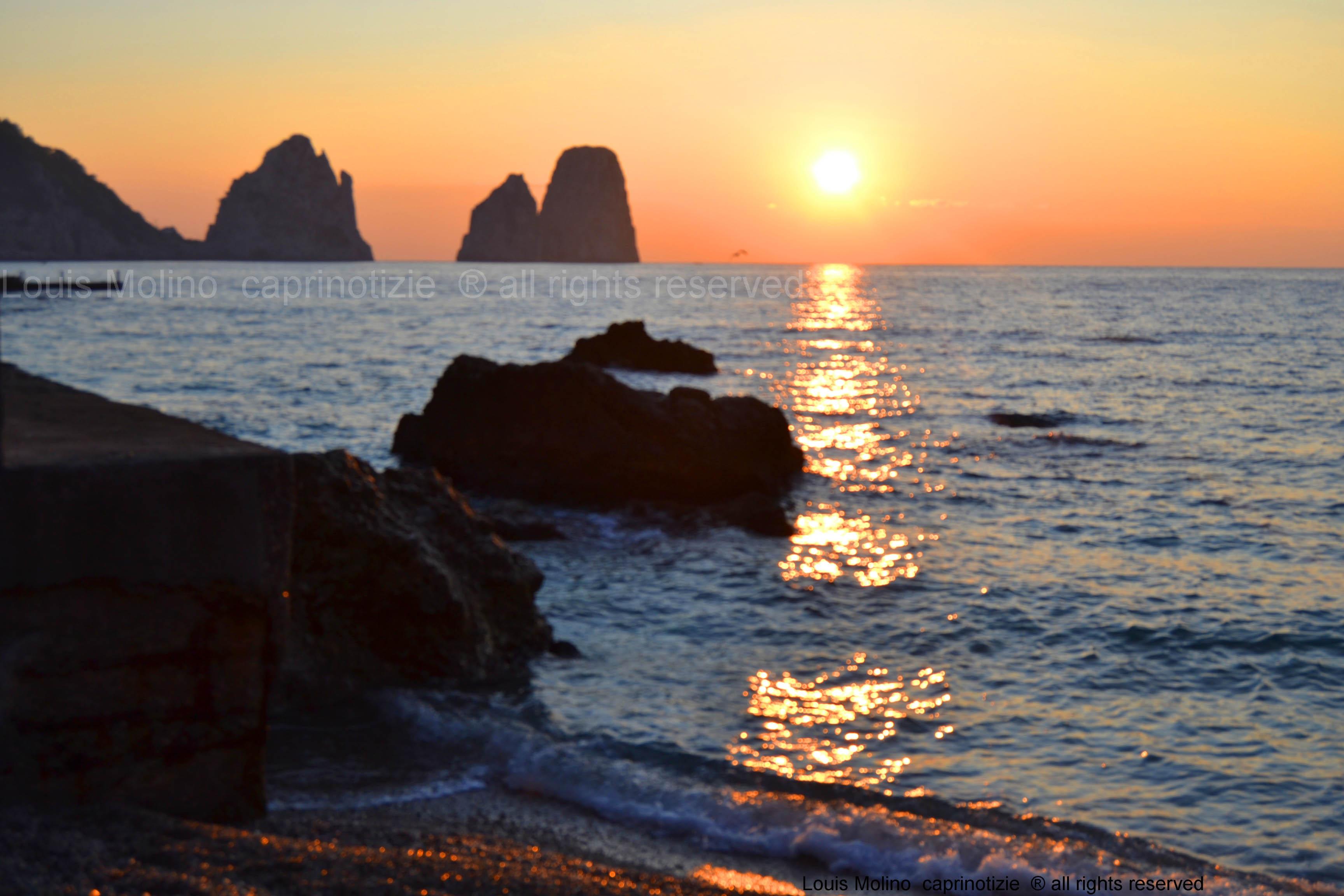 Capri: Cronaca dell' alba caprese e omaggio a Luciano Pavarotti