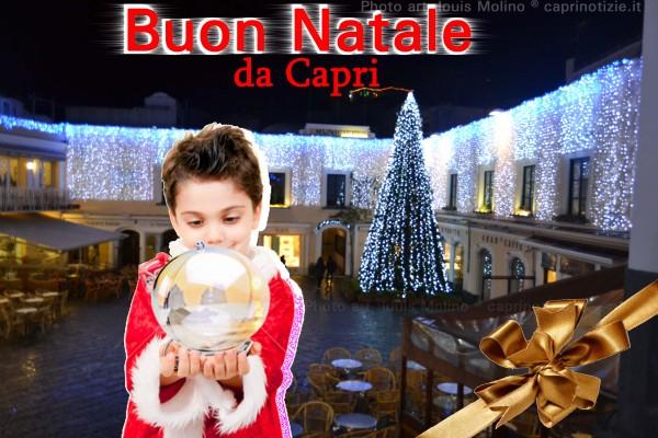 Cartolina da Capri, auguri buon natale