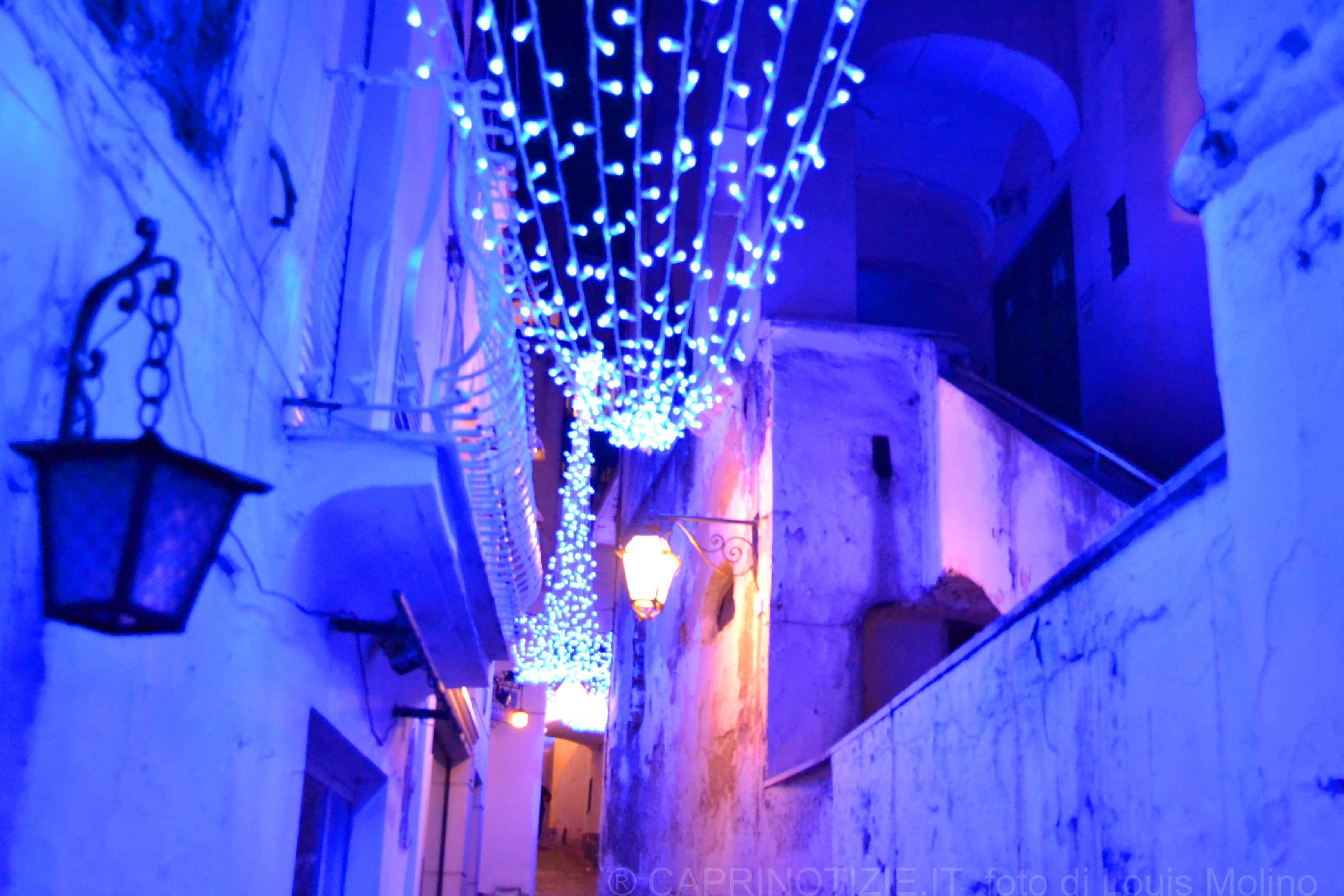 Capri accensione delle luminarie di Natale, sabato 24 novembre