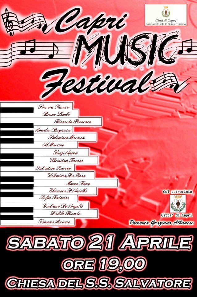 Capri music Festival tutti invitati sabato 21 aprile