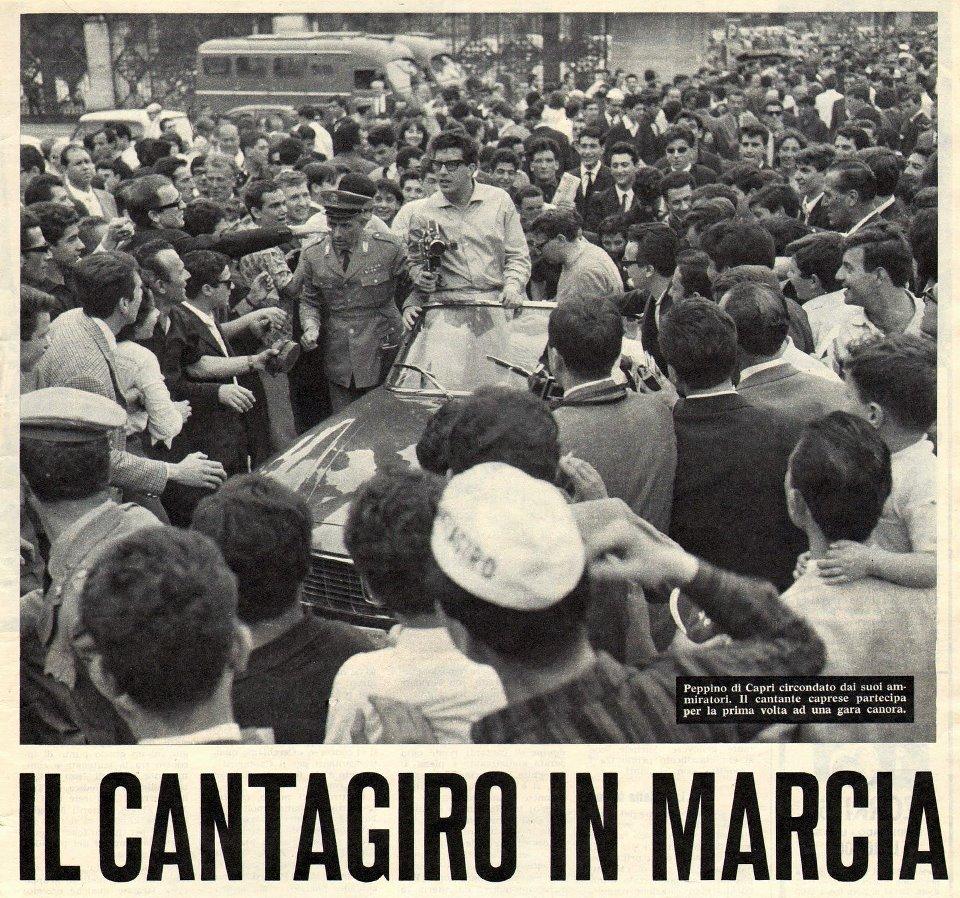 Il cantagiro del 1963 Peppino di Capri vince con Non ti credo