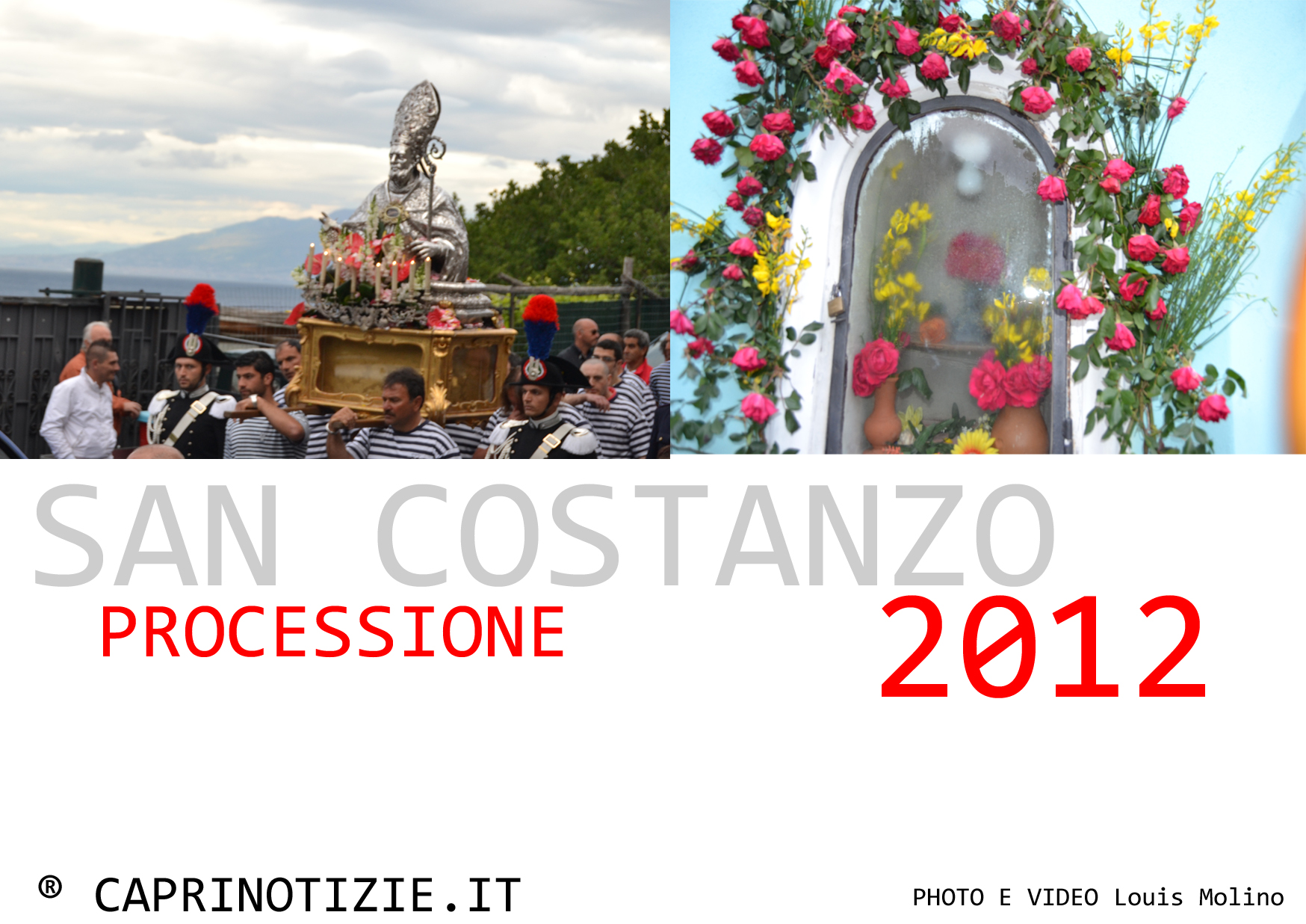 La processione di San Costanzo 2012, video e foto