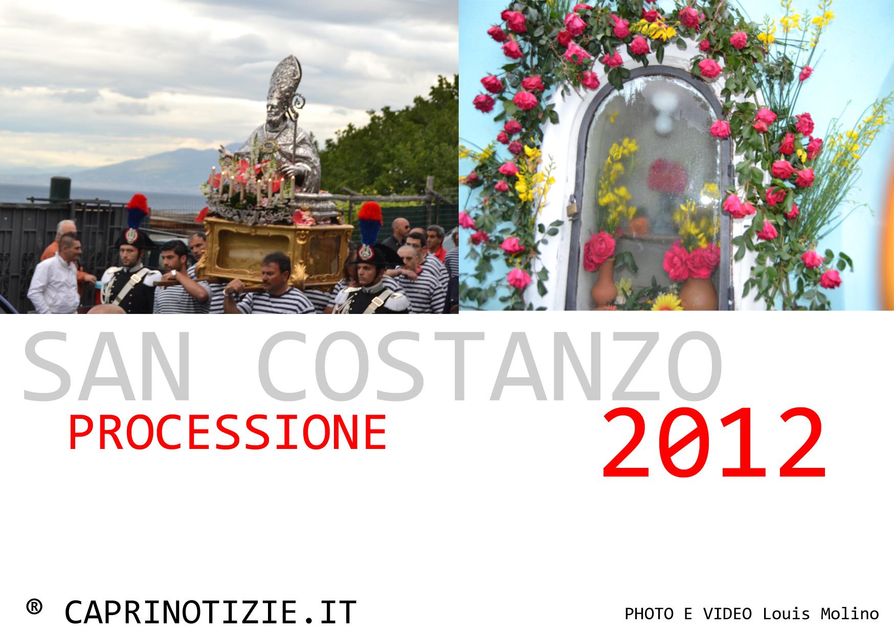 La processione di San Costanzo 2012, video e foto