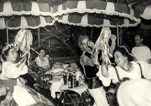 Capri, suonano le bande putipu' video del 1950