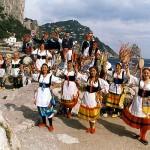 La banda folkloristica Scialapopolo ad Uno mattina della Rai