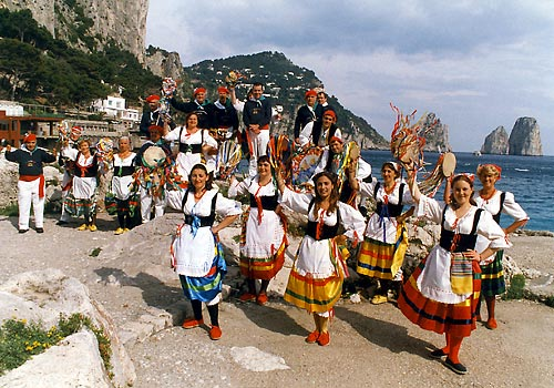banda folkloristica scialapopolo capri