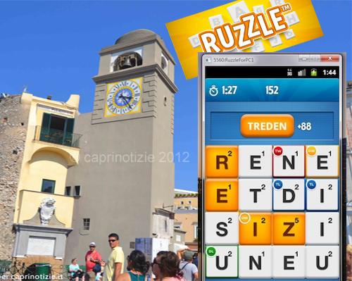 Ruzzle il gioco che fa' impazzire anche Capri