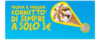 Il nuovo cornetto algida ad 1 euro