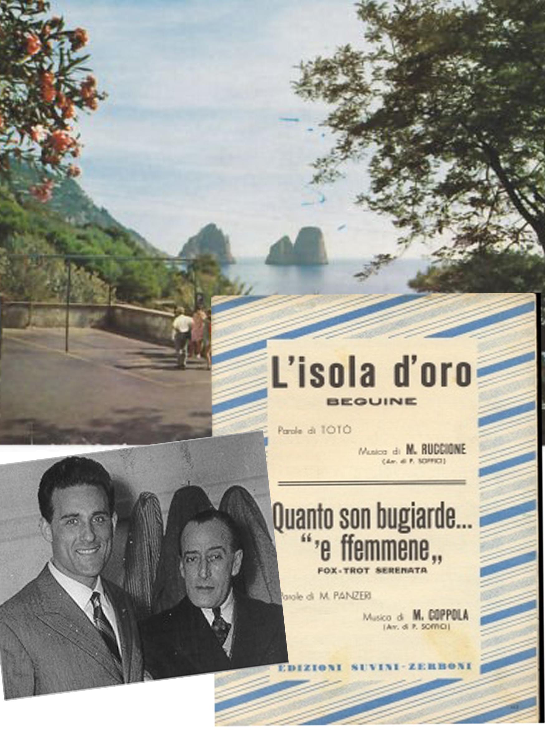 """La morte di Giacomo Rondinella, il ricordo nella canzone dedicata a Capri """"Isola d'oro"""" scritta da Totò"""