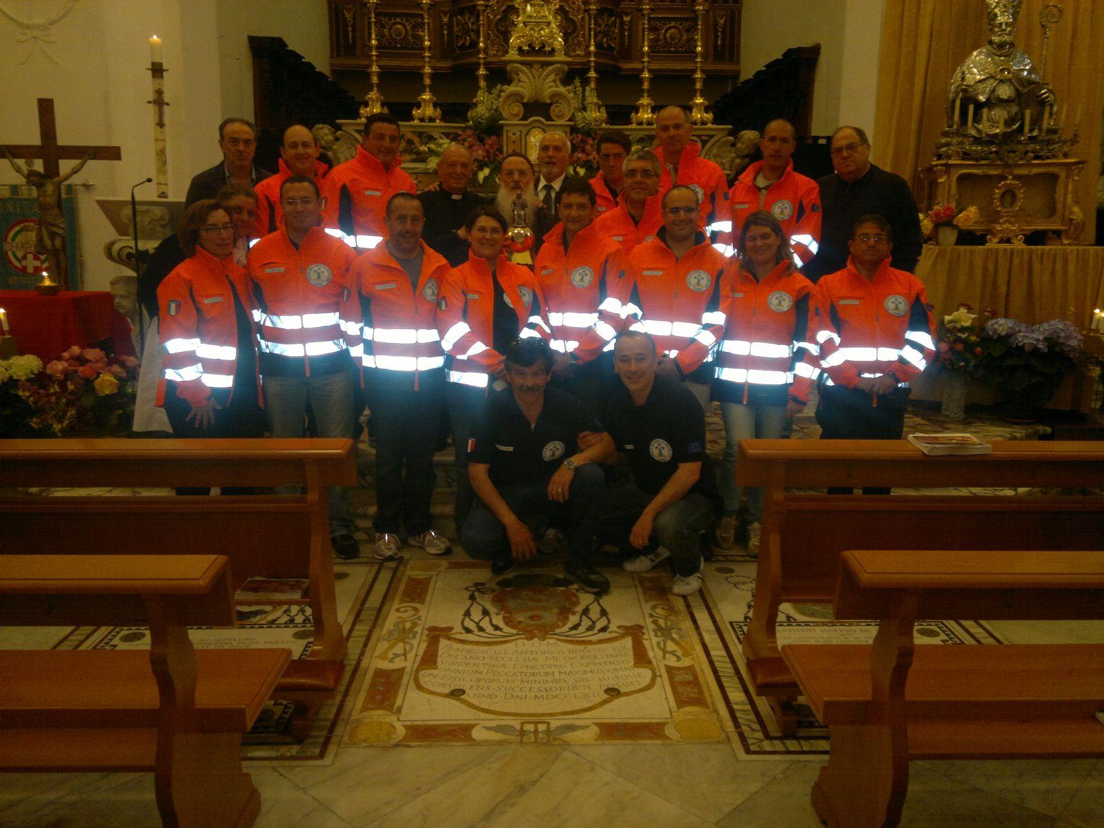 Capri, i volontari della Croce Azzurra di Padre Pio