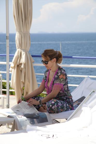 Barbara d'Urso elegantissima a Capri (LE FOTO)