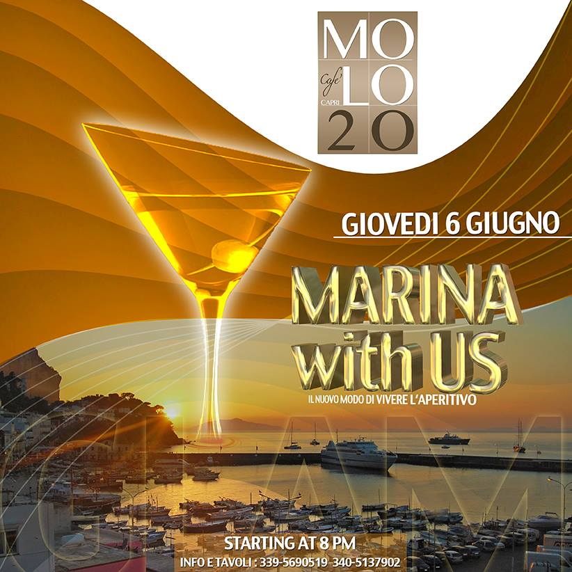 Le frizzanti serate al Molo20 l'aperitivo che movimenta la marina grande di Capri