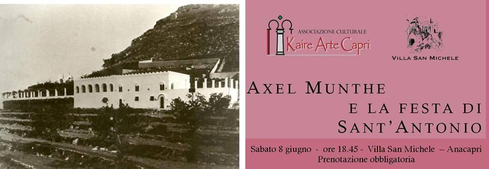 Axel Munthe e la festa di S.Antonio, opera teatralizzata sabato 8 giugno