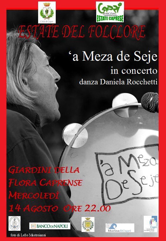 """Estate del Folklore a Capri """"A meza de Seje"""" in concerto"""