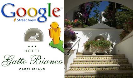 Hotel Gatto Bianco,il primo albergo di Capri visitabile con Google Street View