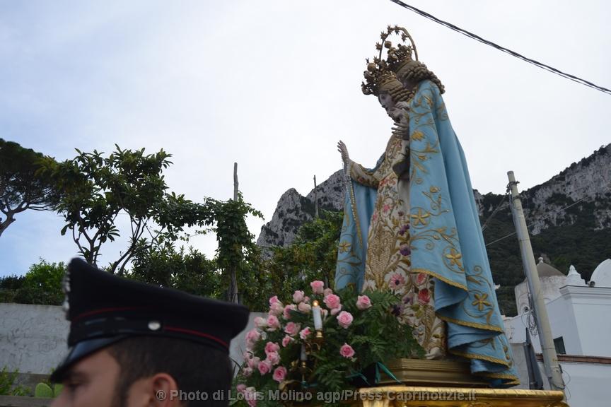 La processione della Madonna della Libera a Capri (foto)