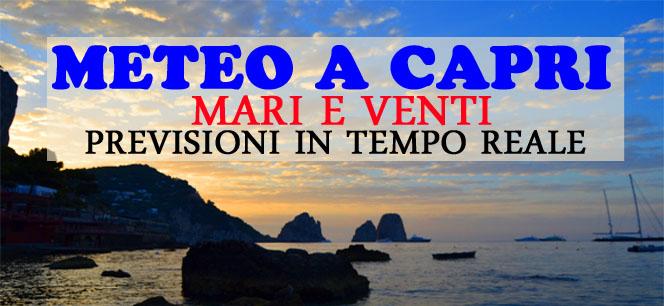 Meteo Capri: Le previsioni del tempo per Sabato 11 Agosto
