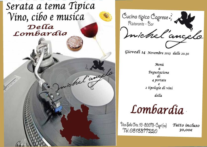 Al ristorante Miche'Angelo di Capri gustosa serata a tema
