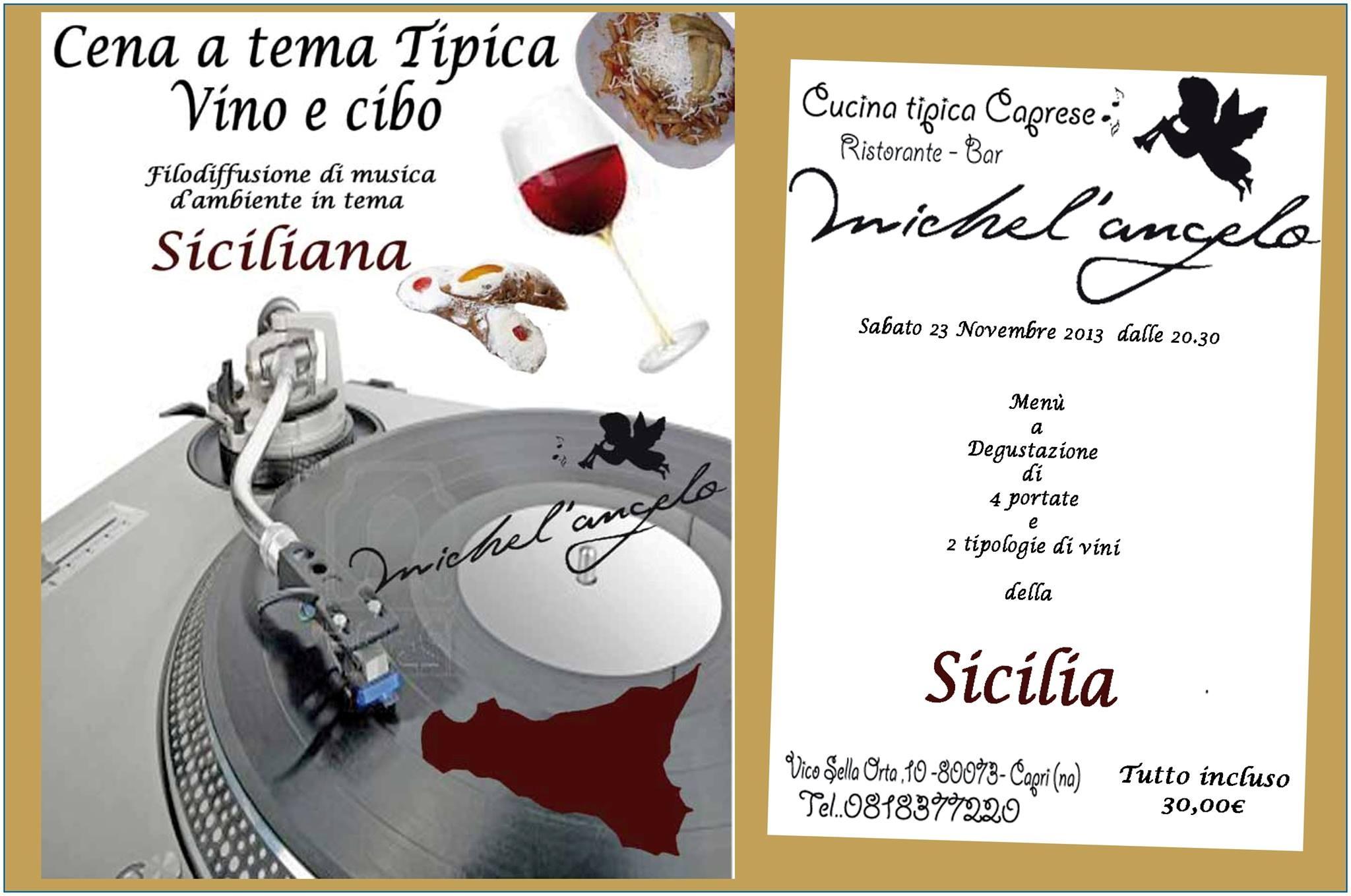 Viaggio nei vini e nella musica della Sicilia al ristorante Michel' Angelo di Capri