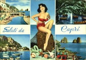 cartolina da capri 1968