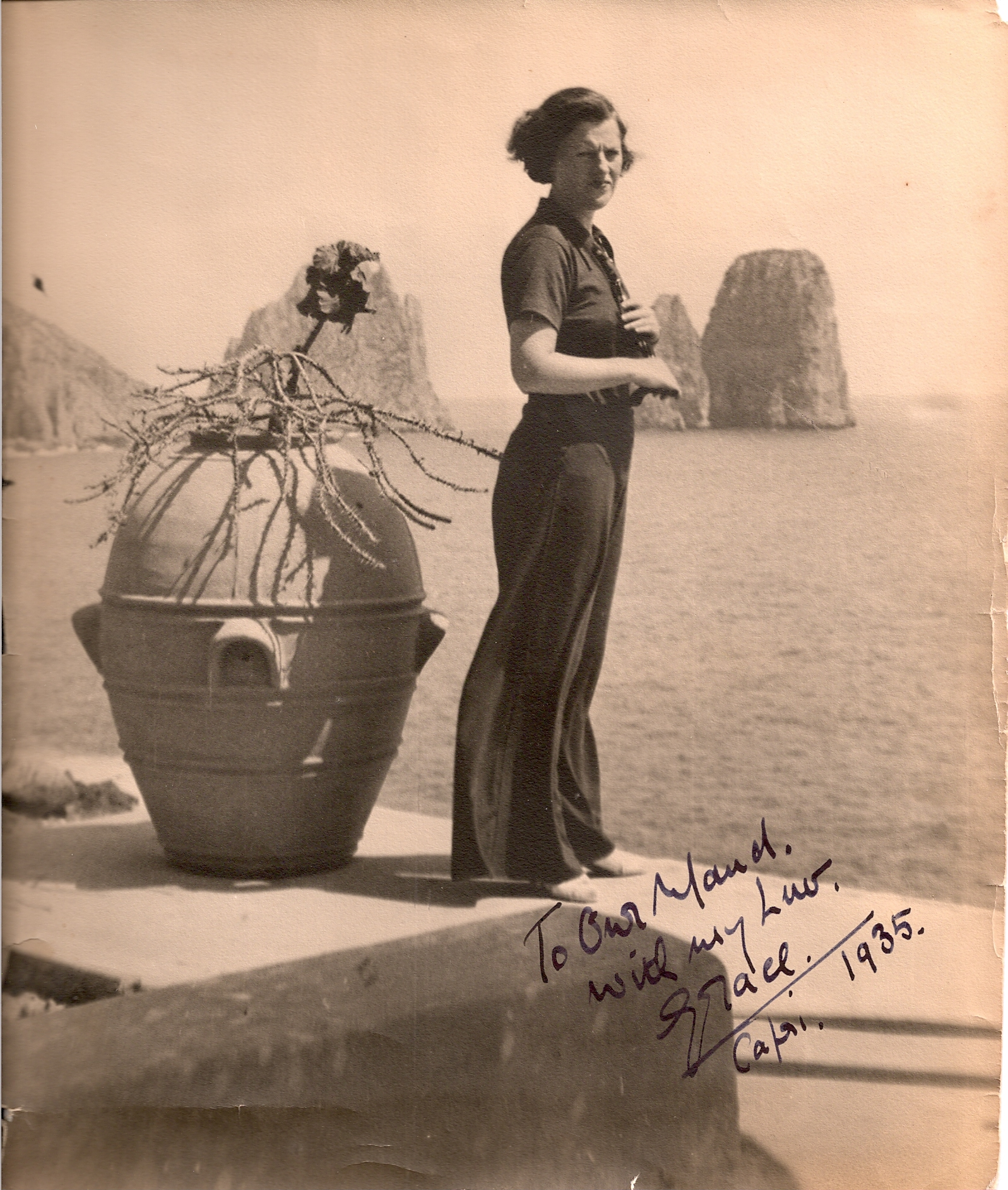 Grace Fields e l'amore  per  Capri in un video inedito del 1946