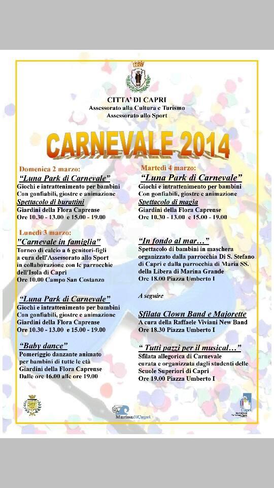 carnevale 2014 capri programma
