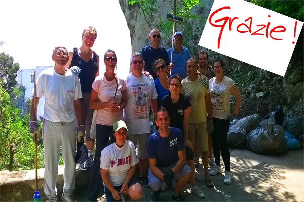 Ripristinato e ripulito dai volontari  lo storico belvedere del Pizzo Luongo (FOTO)