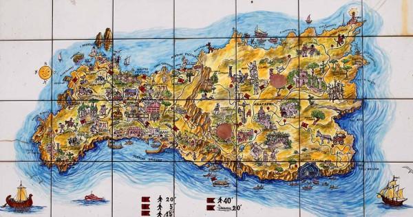 mappa capri