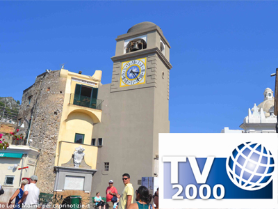 Capri in Tv:  Le chiese dell'isola, intervista di Tv2000 a Don Vincenzo Simeoli