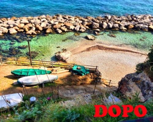 Ripulita dai volontari la spiaggetta dei Bagni di Tiberio