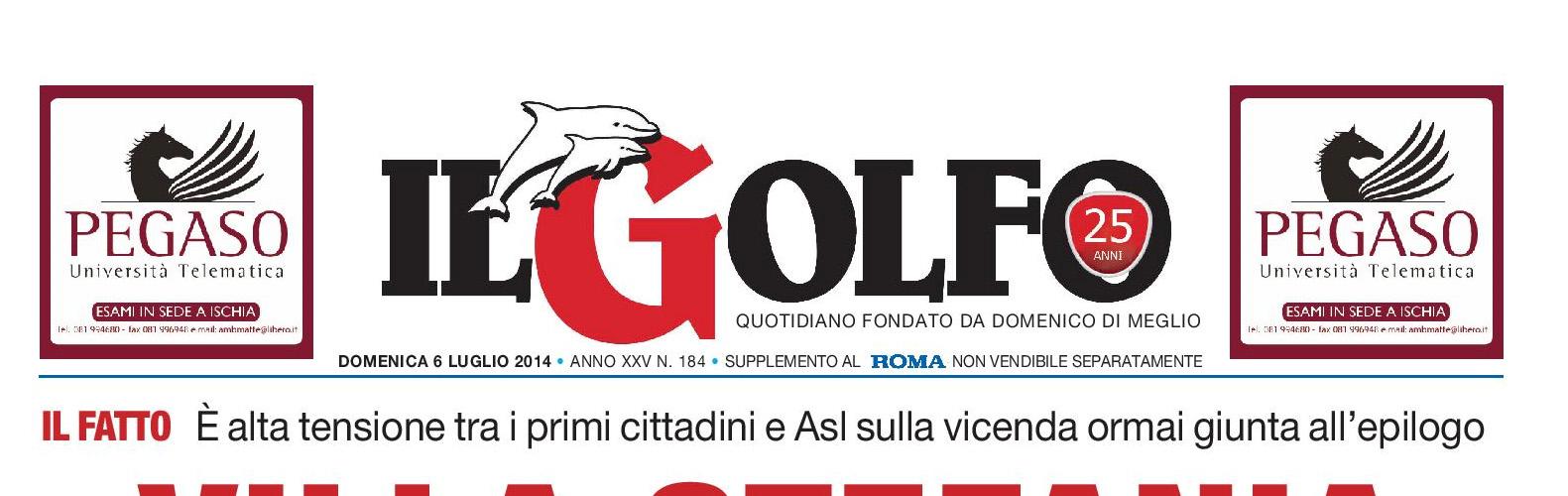 """Sul quotidiano """"Il Golfo"""" di Lunedi 21 Luglio 2014"""