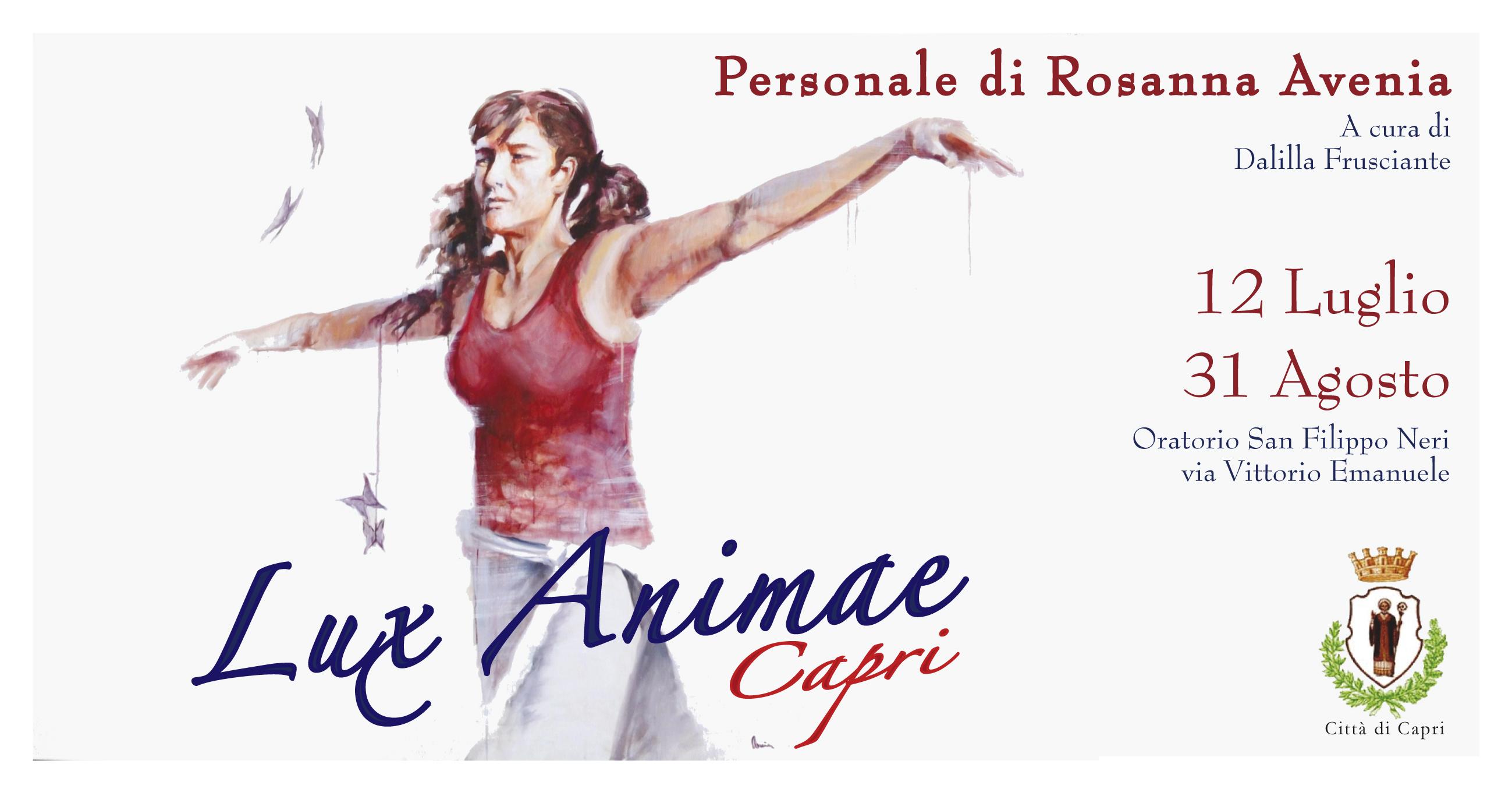 """""""LUX ANIMAE"""" a Capri la mostra personale della pittrice Rosanna Avenia"""