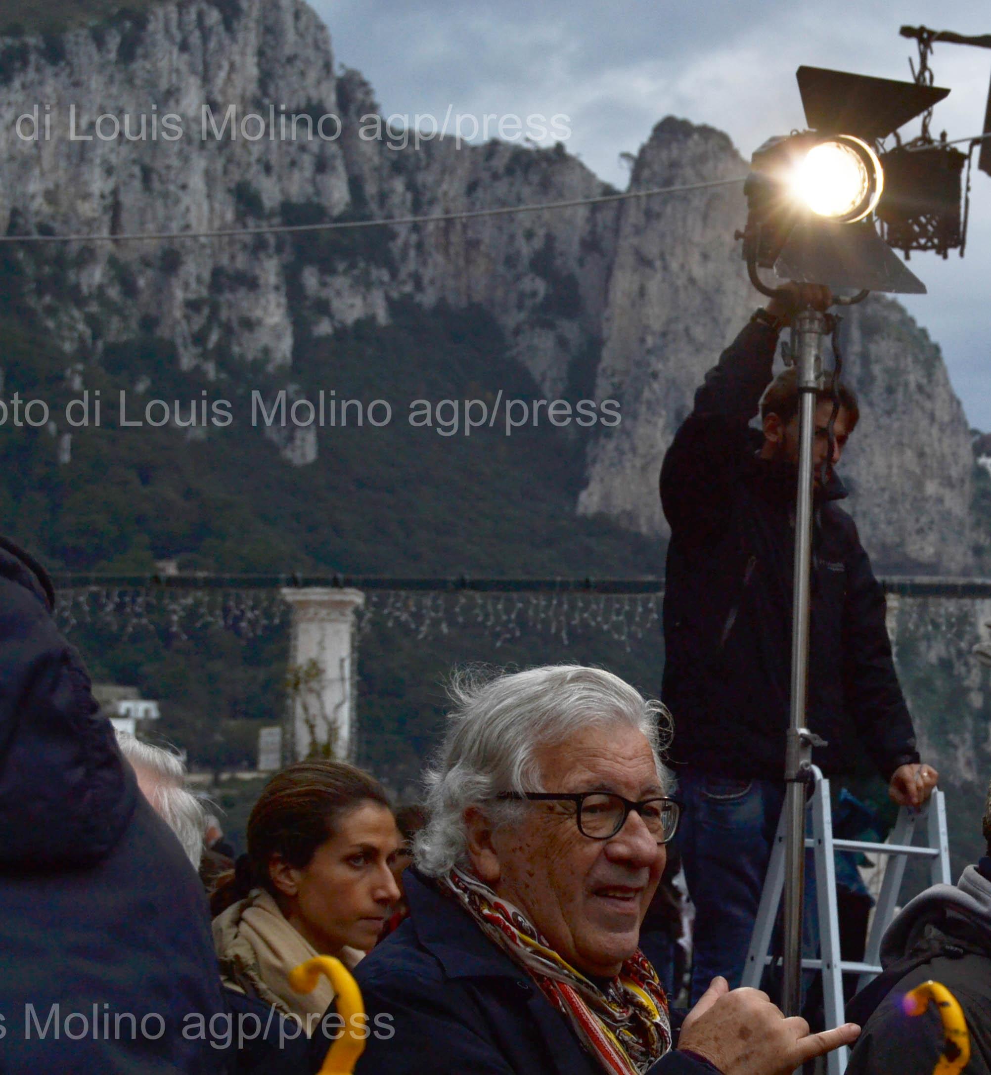 """Capri. """"Piano e Voce"""" con Peppino di Capri nella piazzetta di Capri per il Prix Italia"""