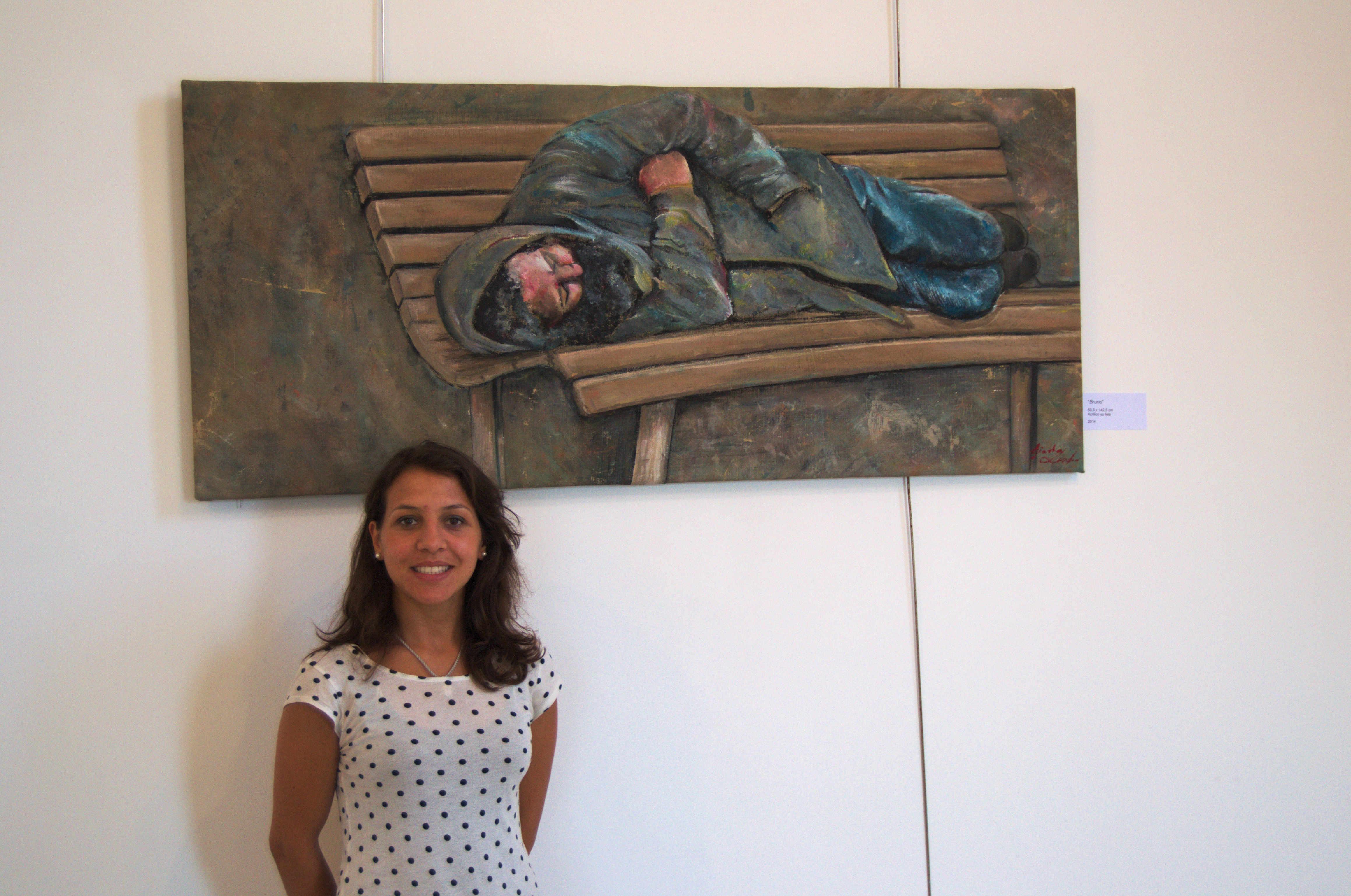 """Grande successo per """"Ubuntu"""" la prima mostra della giovane pittrice caprese Giada Lembo"""