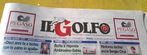 Da oggi il quotidiano il Golfo dedica una pagina a Capri