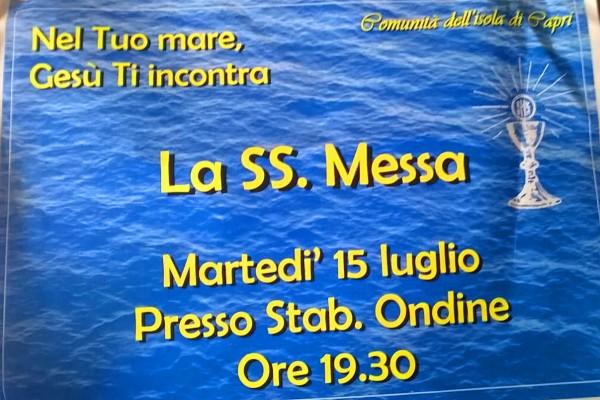 """""""Nel tuo Mare Gesù ti incontra"""" S.s. Messa allo stabilimento """"Le Ondine"""""""
