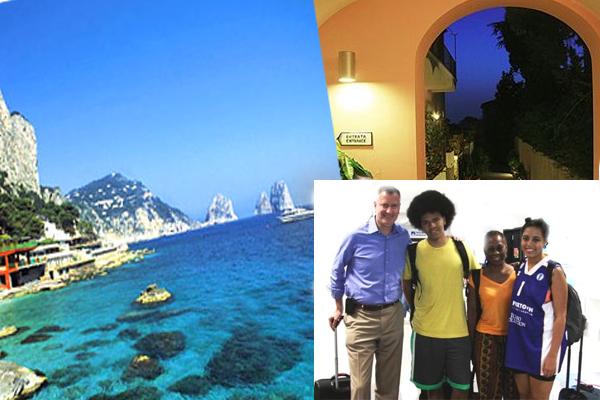 Il sindaco di New York Bill De Blasio a Capri (reportage)
