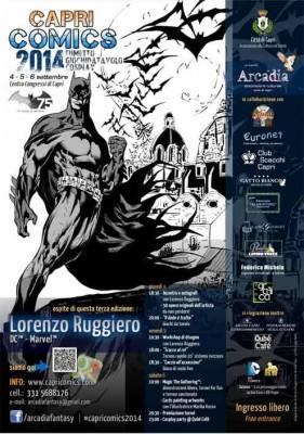 """Tutto pronto per  """"Capri Comics"""" Ia terza  edizione sarà dedicata a Batman"""
