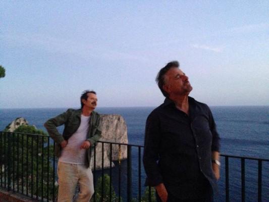 "Rocco Palaleo e Christian de Sica su Facebook: ""La vacanza a Capri é finita, un lungo respiro e si riparte"""