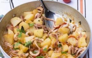 totani e patate fritti