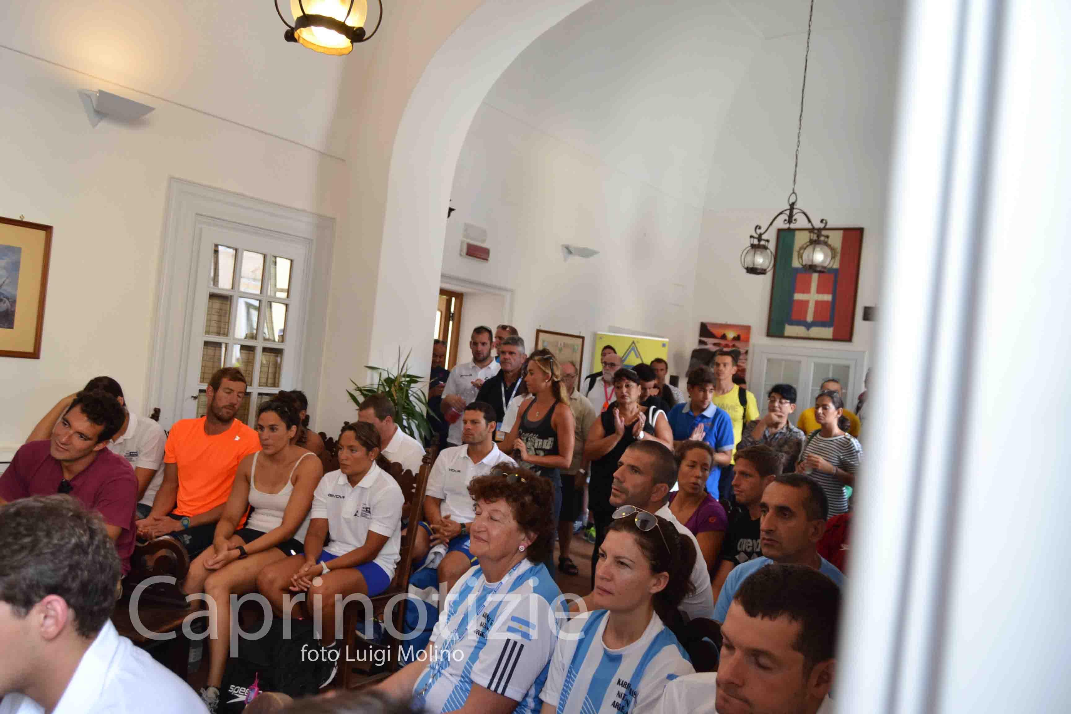 Capri-Napoli di nuoto: Conferenza di presentazione e buffet di benvenuto nella casa comunale