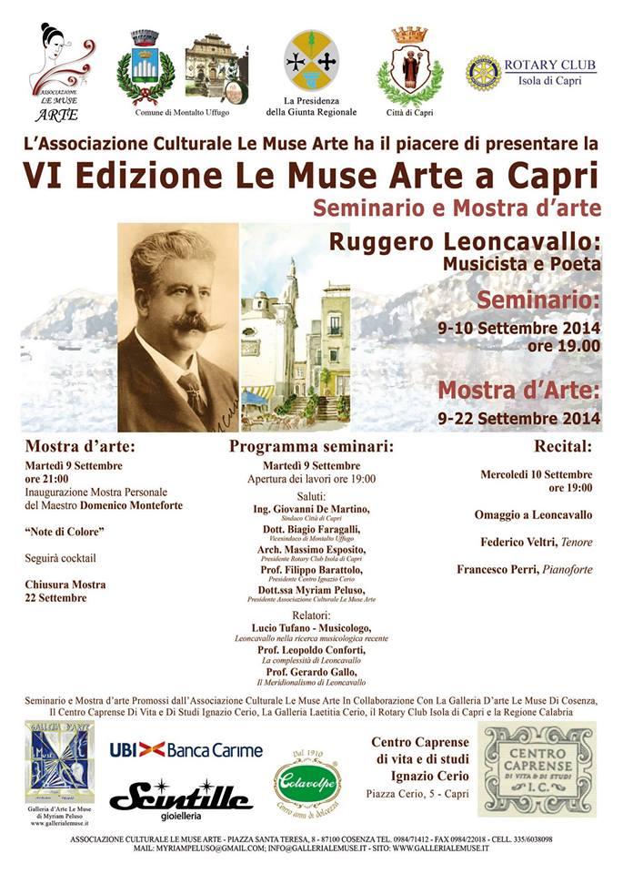 """Al via la sesta edizione """"Le Muse Arte Capri"""" il programma completo"""