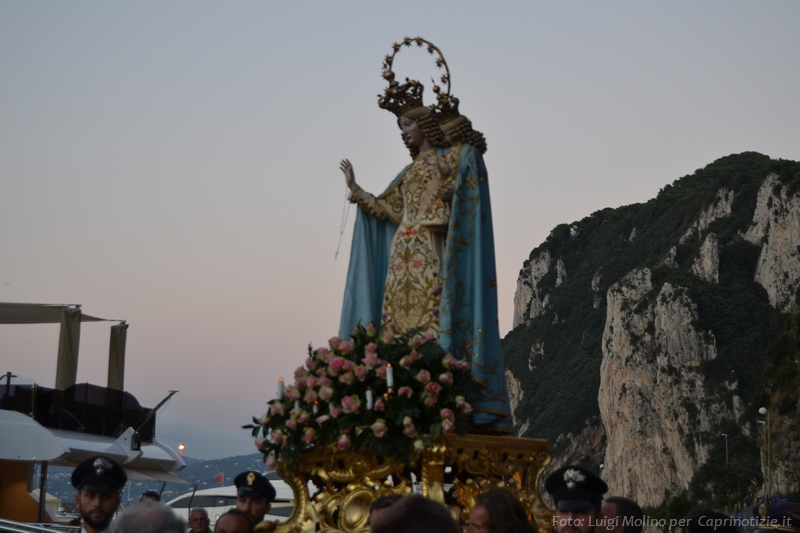 Capri : Rinviata Processione e Festeggiamenti Civili in onore della Madonna della Libera