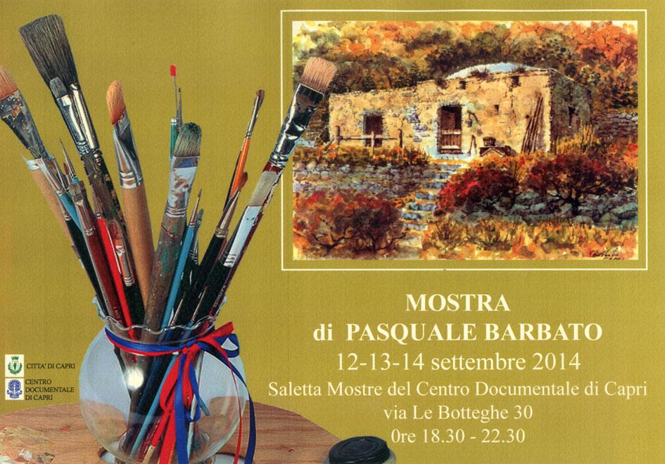 """Le opere di Pasquale Barbato inaugurano la riapertura della """"Saletta Mostre"""" del  Centro Documentale di Capri"""