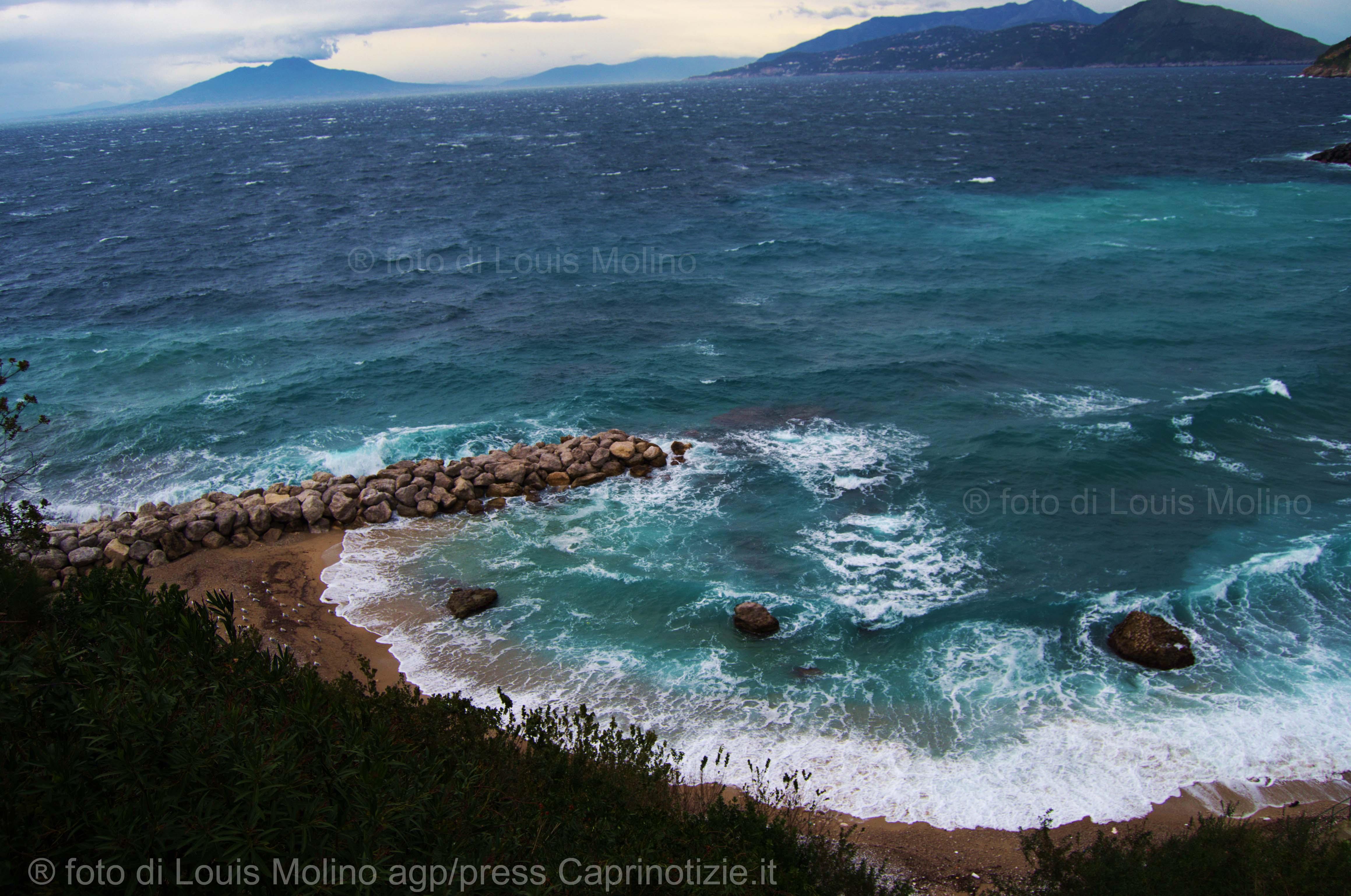 Capri: Venti forti da nord, la gelata della befana