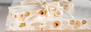Torrone Tenero  di nocciole mandorle e pistacchi