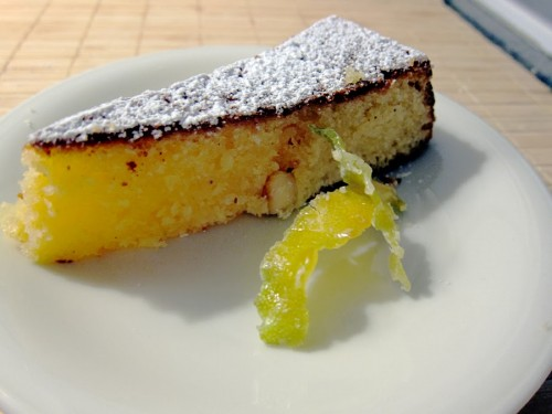 tortta caprese limoncello e pistacchio