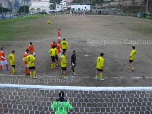 Calcio: La prima squadra dell' Olimpia Capri vince in casa contro la prima in classifica