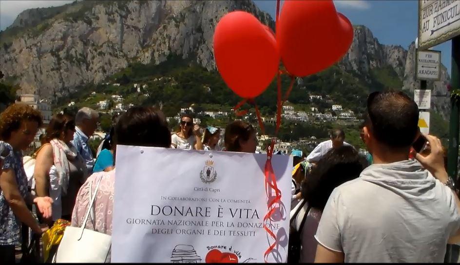 """Capri accoglie in un clima di grande festa la comunità """"Donare é vita"""" nella giornata nazionale per la donazione degli organi (Video)"""